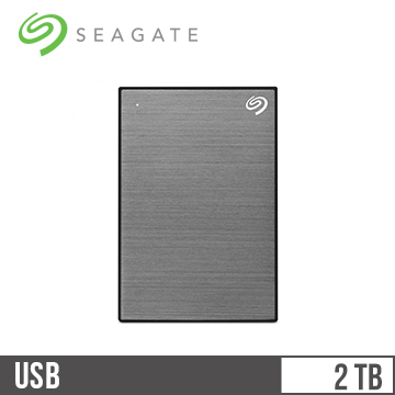 Seagate希捷 Backup Plus Slim 2.5吋 2TB行動硬碟 銀河灰