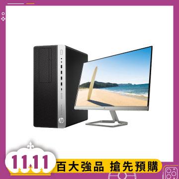 HP 桌上型主機(i7-8700/8GD4/1TB/W10H)+【27型】HP IPS 窄邊框螢幕 EliteDesk800 G4