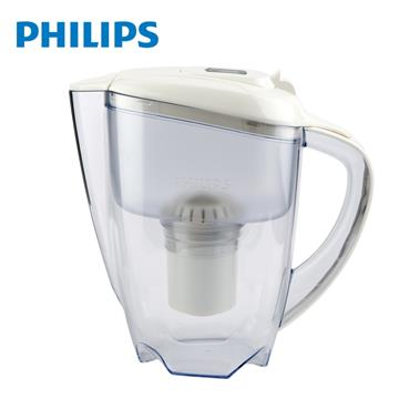 飛利浦超濾帶計時器3.5L濾水壺(白)