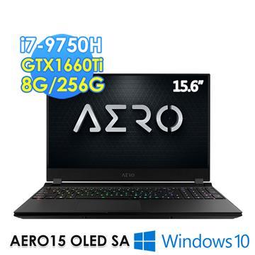 GIGABYTE技嘉 AERO 15.6吋筆電(i7-9750H/GTX1660TI/8GD4/256G)