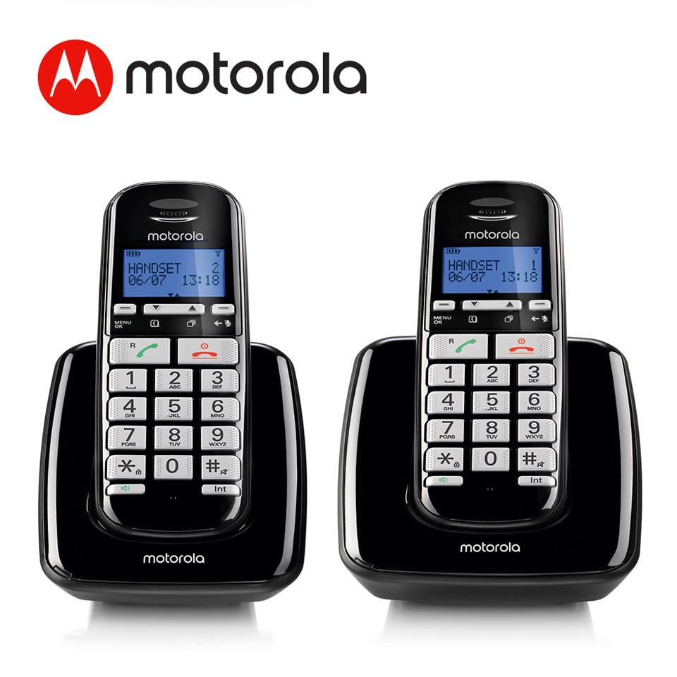 Motorola 大字鍵DECT無線雙機