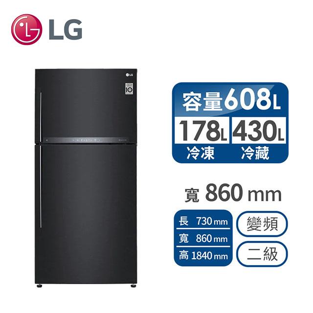 LG 608公升直驅變頻冰箱 GR-HL600MB