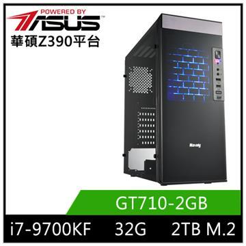 華碩平台[赤月戰神]i7八核獨顯SSD電腦