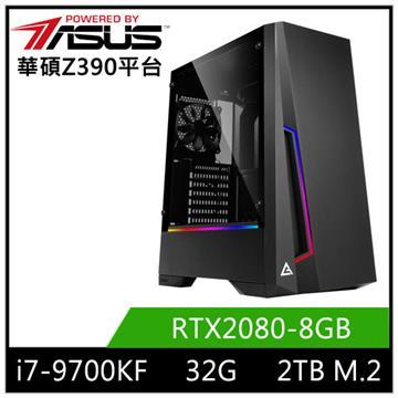 華碩平台[赤月虎神]i7八核獨顯SSD電腦