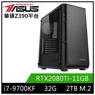 華碩平台[赤月龍神]i7八核獨顯SSD電腦