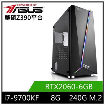 華碩平台[競鋒邪神]i7八核獨顯SSD電腦
