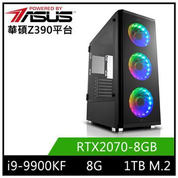 華碩平台[玄天魔神]i9八核獨顯SSD電腦