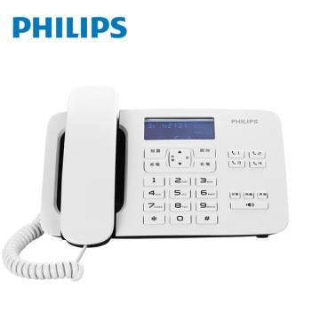 飛利浦PHILIPS 超大螢幕有線電話 白