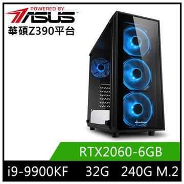 華碩平台[太古天神]i9八核獨顯SSD電腦