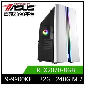 華碩平台[太古魔神]i9八核獨顯SSD電腦