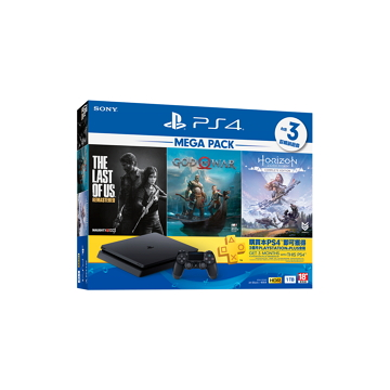 PS4 MEGA PACK Bundle 同捆組-黑