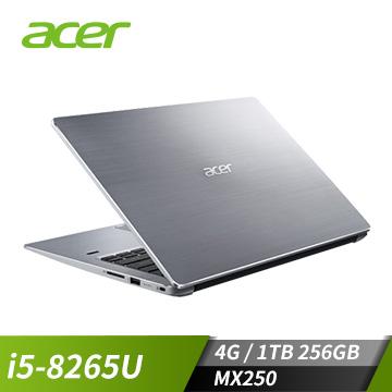 ACER SF314 14吋筆電(i5-8265U/MX250/4GD4/256G+1T)