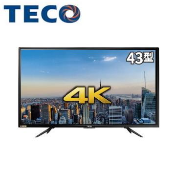 東元43型4K液晶顯示器+視訊盒 TL43U2TRE+TS1315TRA