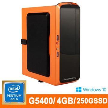 捷元(Genuine)桌上型主機(G5400/4GD4/50G SSD)
