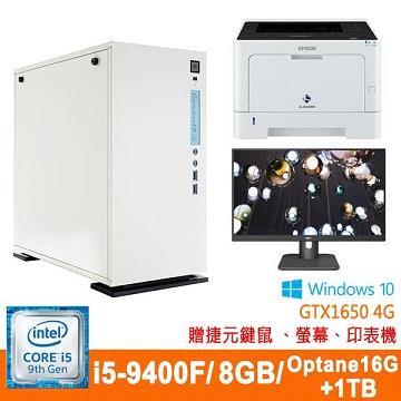 捷元(Genuine)桌上型主機(i5-9400F/8GD4/GTX1650-4G/1TB+16G OP)
