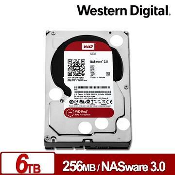 【6TB】WD 3.5吋 NAS專用 SATA硬碟(紅標)
