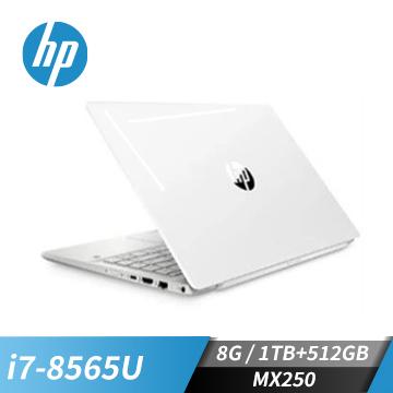 (福利品)HP惠普 Pavilion 筆記型電腦(i7-8565U/MX250/8GD4/256G+1T)