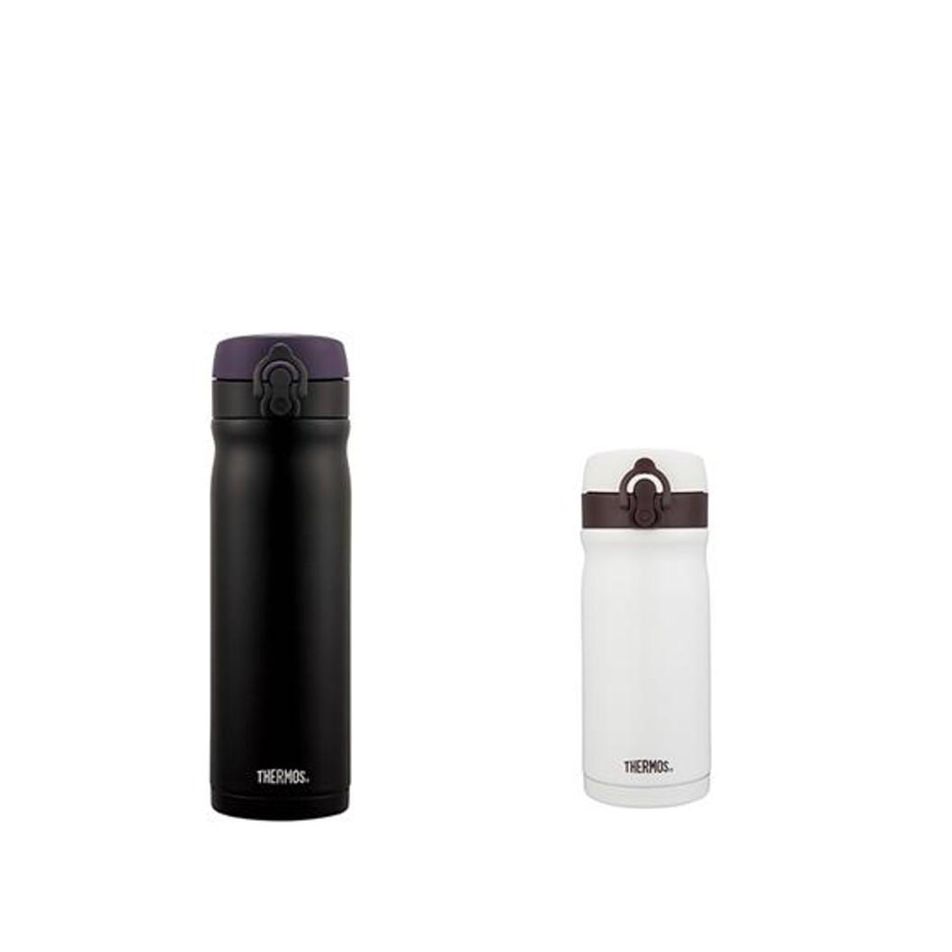 膳魔師500ml+350ml不銹鋼真空保溫瓶-經典黑/香草歐蕾