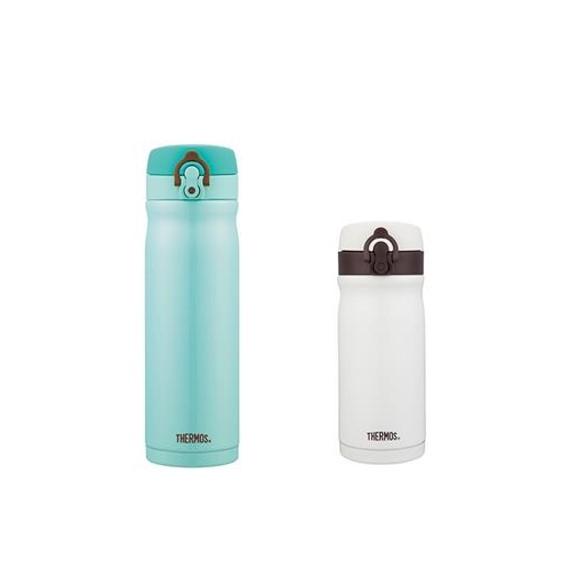 膳魔師500ml+350ml不銹鋼真空保溫瓶-薄荷綠/香草歐蕾