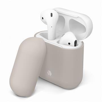 JTLEGEND AirPods Doux 柔矽保護殼-米