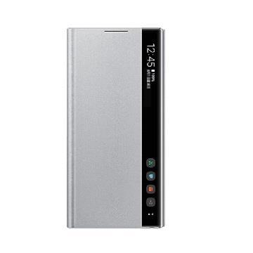 SAMSUNG Note10 原廠全透視感應皮套-銀
