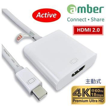 amber mini Displayport轉HDMI主動式轉接器
