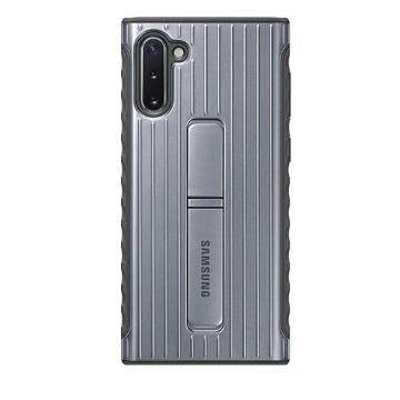 SAMSUNG Note10 原廠立架式保護皮套-銀