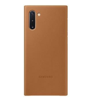 SAMSUNG Note10 原廠皮革背蓋-棕