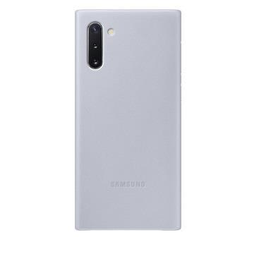 SAMSUNG Note10 原廠皮革背蓋-灰