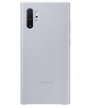 SAMSUNG Note10+ 原廠皮革背蓋-灰