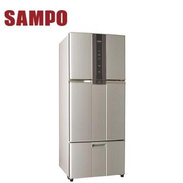 【福利品】展-聲寶 580公升三門變頻冰箱 SR-A58DV(R6)紫璨銀