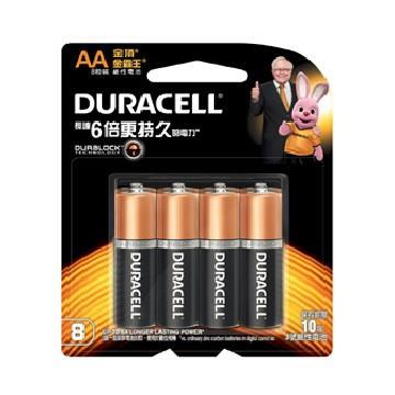 金頂DURACELL 金霸王鹼性電池3號8入