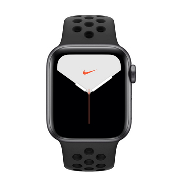 Apple Watch S5 Nike+ GPS 40/灰鋁/黑底黑洞運動錶帶 MX3T2TA/A