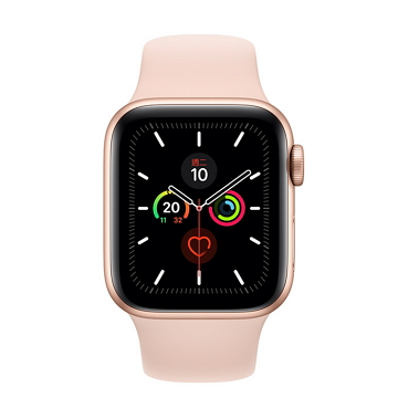 蘋果Apple Watch S5 LTE 44/金鋁/粉沙色運動錶帶