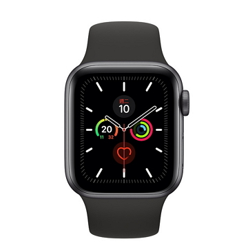 Apple Watch S5 LTE 44/灰鋁/黑運動錶帶 MWWE2TA/A