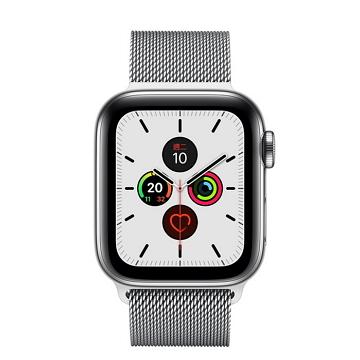 Apple Watch S5 LTE 44/不鏽鋼/不鏽鋼米蘭錶環