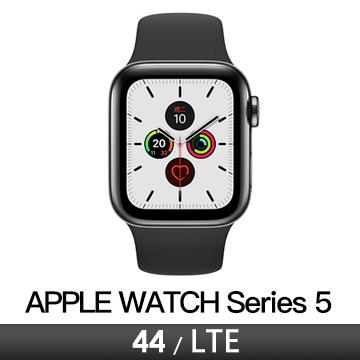 Apple Watch S5 LTE 44/太空黑不鏽鋼/黑運動錶帶