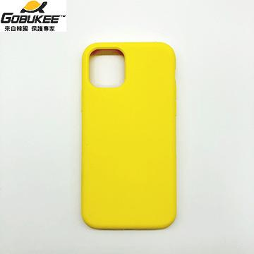 Gobukee iPhone 11 極纖矽膠保護套-黃