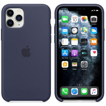 Apple iPhone 11 Pro 矽膠保護殼 午夜藍色