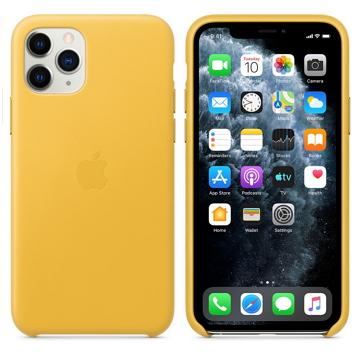 Apple iPhone 11 Pro 皮革保護殼 梅爾檸檬色