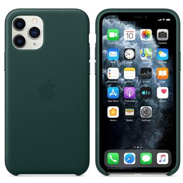 iPhone 11 Pro 皮革保護殼-森林綠色