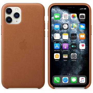 iPhone 11 Pro 皮革保護殼-馬鞍棕色
