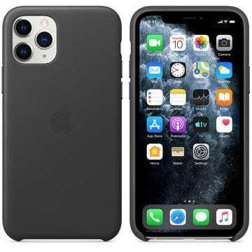 iPhone 11 Pro 皮革保護殼-黑色