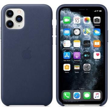 iPhone 11 Pro 皮革保護殼-午夜藍色