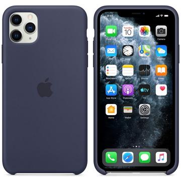 iPhone 11 Pro Max 矽膠保護殼-午夜藍色