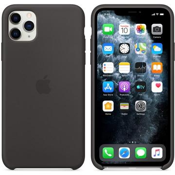 iPhone 11 Pro Max 矽膠保護殼-黑色