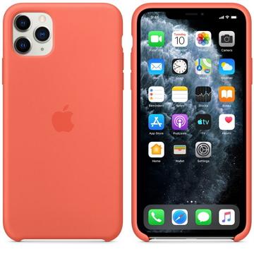 Apple iPhone 11 Pro Max 矽膠保護殼 柑橘色