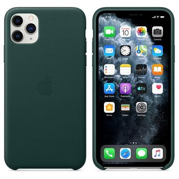 iPhone 11 Pro Max 皮革保護殼-森林綠色