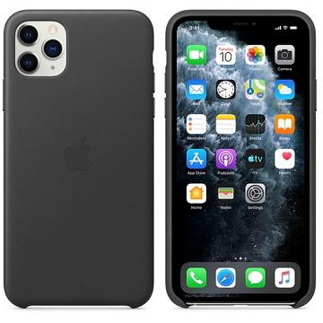 Apple iPhone 11 Pro Max 皮革保護殼 黑色