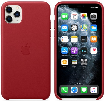 Apple iPhone 11 Pro Max 皮革保護殼 紅(PRODUCT)